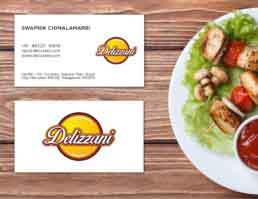 Delizzani Visiting Card Design