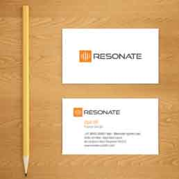 Resonate Systems Visiting Card Design