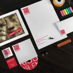 Kiss 89 FM Brand Stationery Design