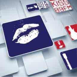 Kiss 89 FM Logo Design