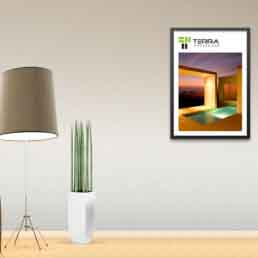 Terra Brand Logo and Wall Poster design