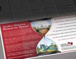 MYRA School of Business Brand Logo Design