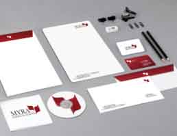 MYRA School of Business Stationery Design
