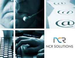 NCR Solutions Brand Logo Design